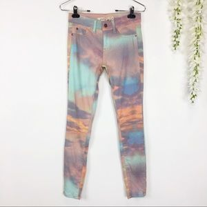 NWT PISTOLA skinny jeans sunset dawn multicolored